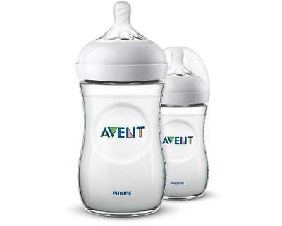 AU29.90 • Buy Philips Avent Baby Bottle Natural 2.0, 2 Pack (Clear) - 260mL Philips Avent Free