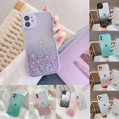AU11.90 • Buy Bling Glitter Case For IPhone 11 Pro Max 7 8 XR X XS Clear Soft Phone Case Cover