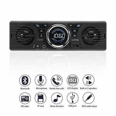 Car Radio Stereo With Built-In Speakers Bluetooth USB MP3 Hands Free • 20.89£