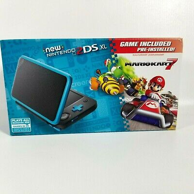 $ CDN191.13 • Buy New Nintendo 2DS XL - Black + Turquoise With Mario Kart 7 Pre-installed