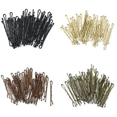 36 PCS 5cm Kirby Hair Grips Clips Bobby Waved Pins Slides Black Brown UK SELLER • 2.59£