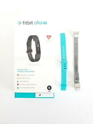 $ CDN98.85 • Buy Fitbit Alta HR Heart Rate Fitness Wristband Black Small With 2 Extra Bands