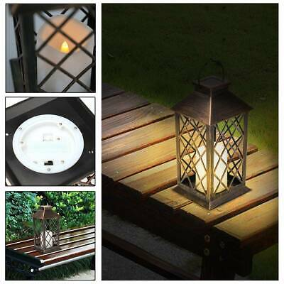 Waterproof LED Solar Powered Hanging Candle Lantern Lights Garden Outdoor Lamp • 11.49£