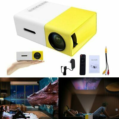 YG300 1080P Home Theater Cinema USB HDMI AV SD Mini Portable HD LED Projector UK • 29.98£