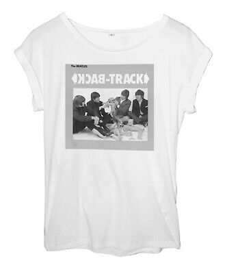 £15.99 • Buy The Beatles Back Track 1988 Women's White Roll Sleeve Top