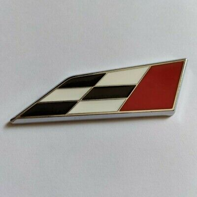 Black Red Chequered Flag Metal Racing Badge For Land Range Rover Freelander SUV • 6.15£