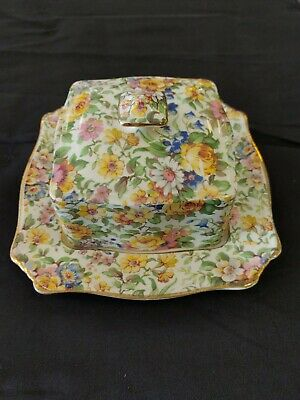 $ CDN59 • Buy Grimwades Royal Winton Ivory England  Bedale  Butter Dish Chintz