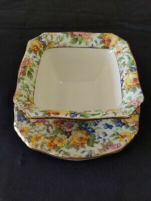 $ CDN59 • Buy Grimwades Royal Winton Ivory England  Bedale  Condiment Dish Chintz