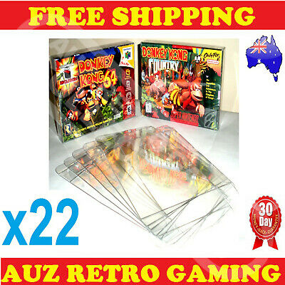 AU35.63 • Buy 22x N64 / SNES Thick GAME BOX PROTECTORS Cases Nintendo 64 BOXED Games