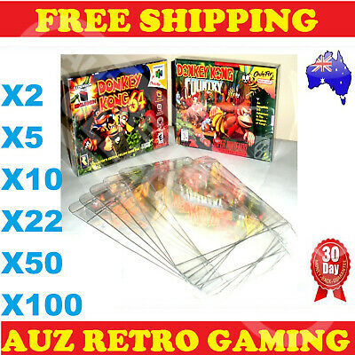 AU35.63 • Buy N64 / SNES Thick GAME BOX PROTECTORS Cases Nintendo 64 BOXED Games