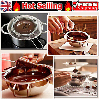 Stainless Steel Chocolate Butter Melting Pot Kitchen Boiler Cooking Accessories • 5.99£