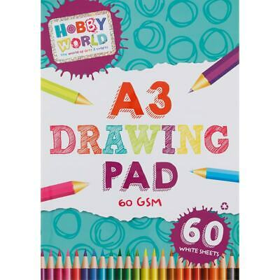 £5.99 • Buy Creative Arts Craft Hobby World A3 Drawing Print Sketch Pad White Paper-G328457