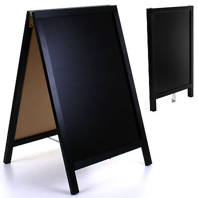 £34.99 • Buy Wooden Chalk Board Blackboard Sign A-Board Pavement Pub Shop Cafe Display Stand