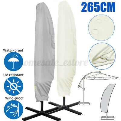265cm Waterproof Garden Parasol Banana Umbrella Patio Cover Outdoor Protector • 13.39£