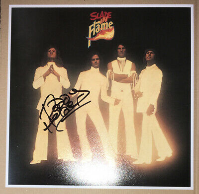 SIGNED NODDY HOLDER 12x12 SLADE IN FLAME ALBUM COVER PHOTO PRINT RARE AUTHENTIC • 39.99£