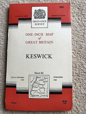 O S One-inch Map Of GB Seventh Series (Vintage) Sheet 82 Keswick • 4£