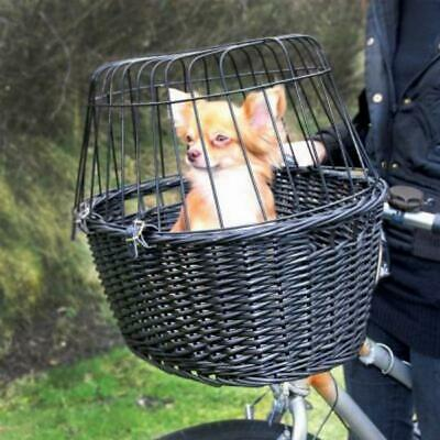 Dog Bicycle Basket Carrier Bike Small Travel Cat Puppy Pet Safety Bag Wire Mesh • 30.70£