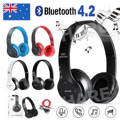 AU16.95 • Buy Noise Cancelling Wireless Headphones Earphone Headset With Mic Hot Bluetooth 4.2