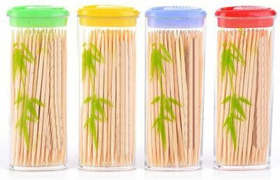 £1.99 • Buy 100approx Wooden Dental Tooth Picks Bamboo Toothpicks Portable Case Oral Hygiene