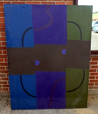 Circle Of Sonia Delaunay Large Original Midcentury 1960s Abstract Oil On Canvas  • 345£