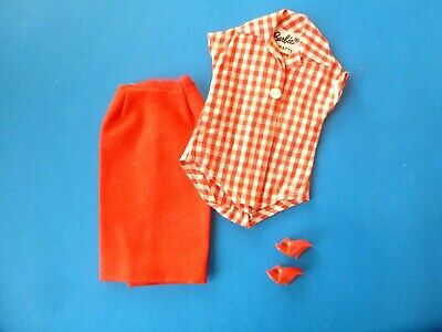 $ CDN36.99 • Buy Vintage Barbie Picnic Set Body Blouse, Red Crisp 'n Cool Skirt & Ot From 1960's