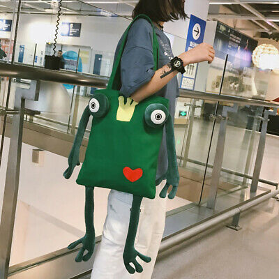 1Pc Backpack Frog Shaped Practical Novelty Creative Handbag For School Daily • 10.99£