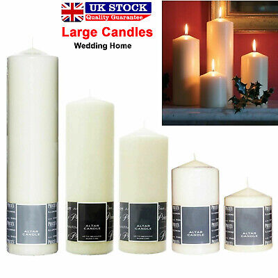 5x Dinner Candle Bistro Style Non Drip Church Candles Quality Extended Burn Time