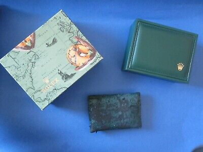 $ CDN101 • Buy Vintage ROLEX Swiss Green Watch Box 12.00.71 + Map Outer Box & Pillow