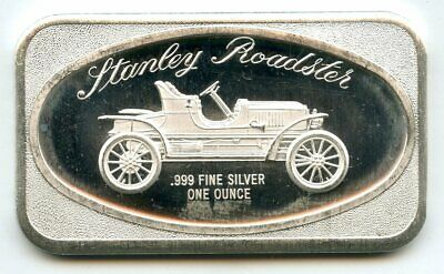 Stanley Roadster Car 999 Silver 1 Oz Art Bar Medal Ingot Vintage Ounce - BJ851 • 35.73£