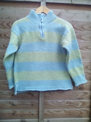PACHAMAMA WOOL JUMPER 100% Wool WITH100% Cotton Edging • 45£