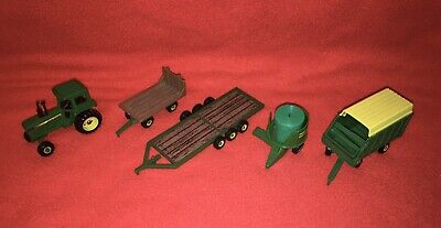 AU94.05 • Buy ERTL John Deere Tractor And Multi-Farm Implements  (5)-Wagons, Forager, Grinder+