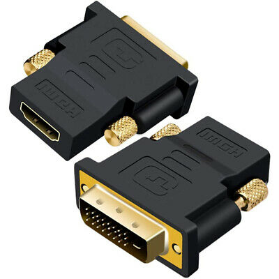 AU3.95 • Buy DVI D Male Dual Link To HDMI Female Converter Socket Cable Adapter Plug For HDTV
