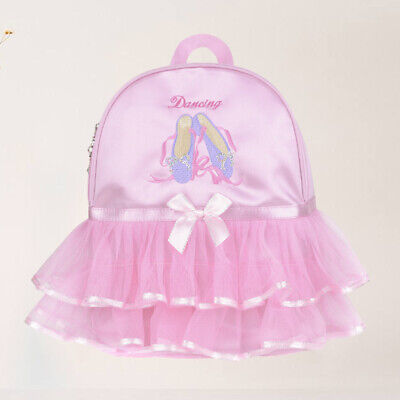 1pc Girls Backpack Ballerina Lovely Ballet Princess Tutu Pink Dress Dance Bag • 12.92£