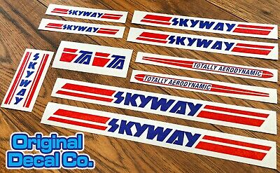£12.99 • Buy Skyway Bmx Stickers Set - TA - Bike Replacement Frame & Forks Retro Decals