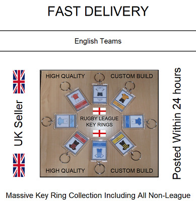 Ref #61 Rugby League Key Rings: English Teams L Shirt L Birthday Gift • 4.49£