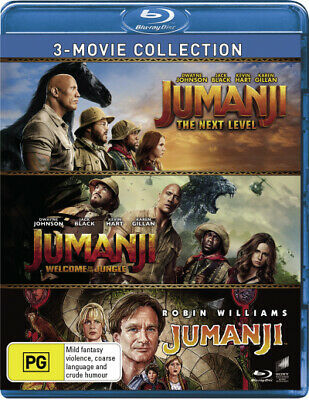 AU55.99 • Buy 3 Movie Collection (jumanji: The Next Level / Jumanji: Welcome To [new Bluray]