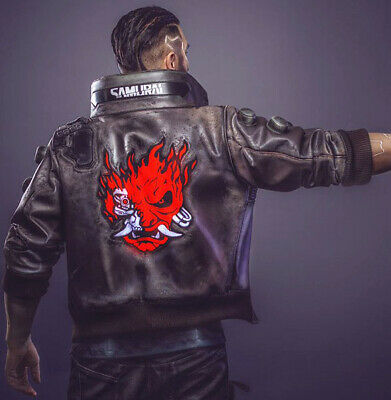 $ CDN201.77 • Buy Cyberpunk 2077 Samurai Gaming Halloween Costume Bomber Faux Leather Jacket