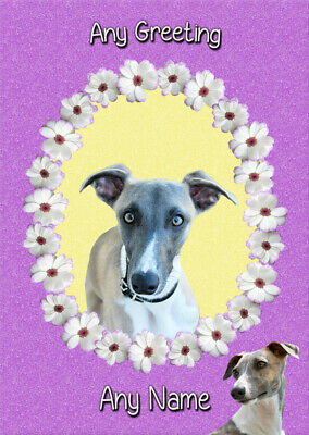 £3.85 • Buy Personalised Whippet Dog Card - Fathers Day Birthday Christmas