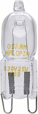 2 X Osram 25w 230v G9 Halopin Oven Rated Halogen Lamp • 4.98£