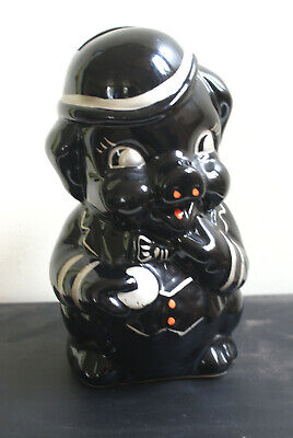 Big Black Ceramic Pig Money Bank Collectable • 7£