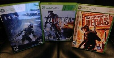 $ CDN26.35 • Buy Lots Of  3 Xbox 360 Games, Halo 4  Battlefield 4 & Rainbow Six Vegas