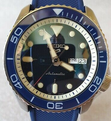 $ CDN562.82 • Buy SEIKO SKX007 Mod  Full Lumed  From SRPD71 4R36A Silicone Strap New Condition