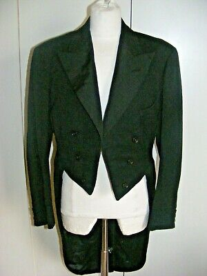 Vintage 1920s Black Wool Tailcoat Tail Coat By Harry Hall Dated 1929 38  Chest • 65£