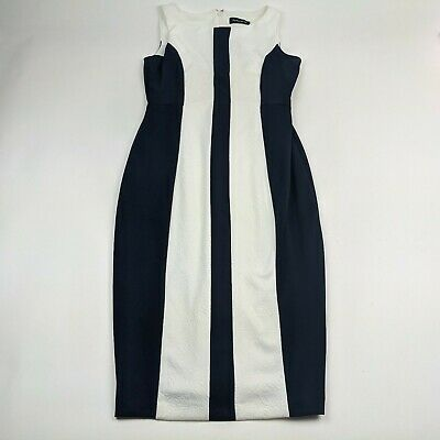 $ CDN44.27 • Buy Ivanka Trump Womens Size 8 Dress Blue White Striped Knee Length Sleeveless