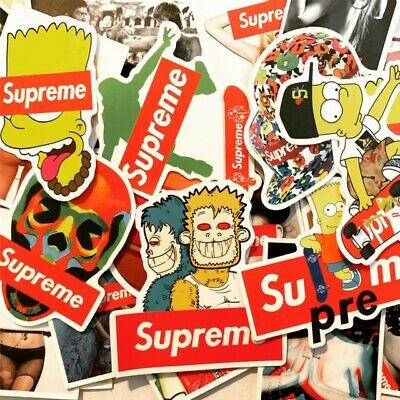 $11.99 • Buy 100 Supreme Hypebeast Stickers For Hydro Flasks, Laptops, Skateboards- USA STOCK