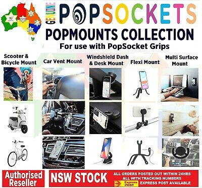 AU7.50 • Buy Authentic PopSockets Grip Pop Socket Top Phone Universal Stand Holder Car Mount