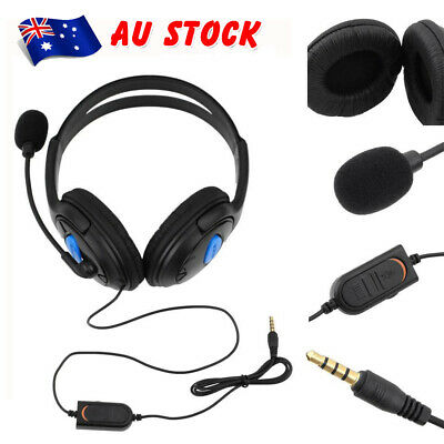 AU14.24 • Buy Headphones Wired With Mic Headset Gaming Earphone For Computer PC 3.5mm Jack BN