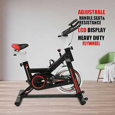 Exercise Spin Bike 11KG Flywheel Cycling Bicycle Fitness Indoor Home Training B • 169.99£