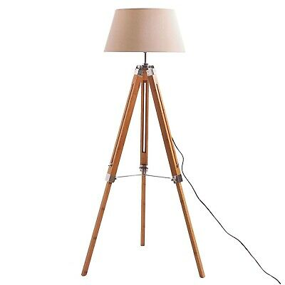 AU96.90 • Buy Beige Tripod Floor Lamp Contemporary Style Adjustable Height FREE Shipping *NEW*