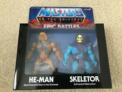 $89.99 • Buy Masters Of The Universe SUPER 7 MOTU Epic Battles TWO PACK Skeletor He-Man NEW M